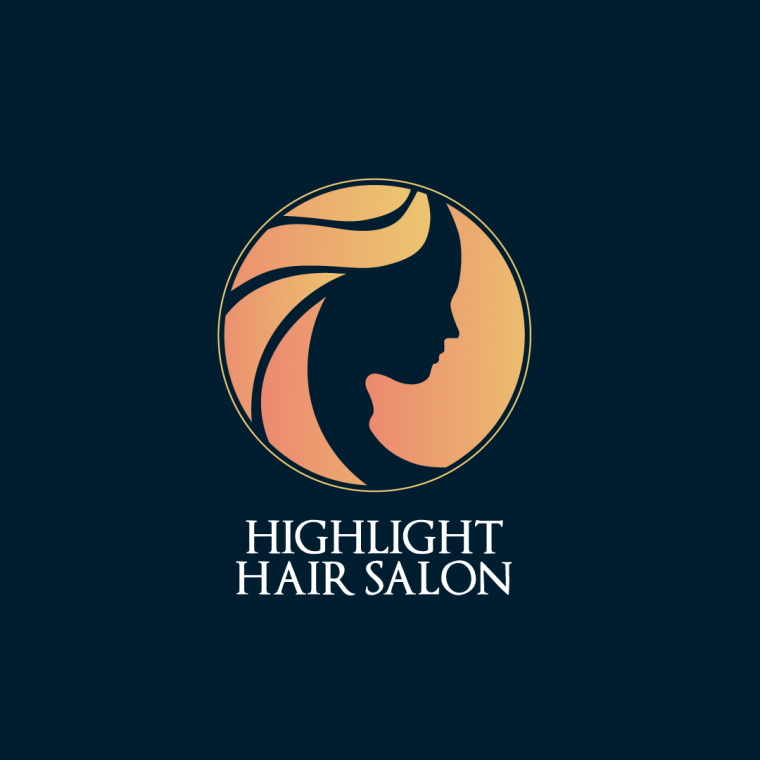 Highlight Hair Salon Logo Design